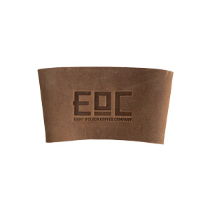 Eight O'Clock Leather Coozie